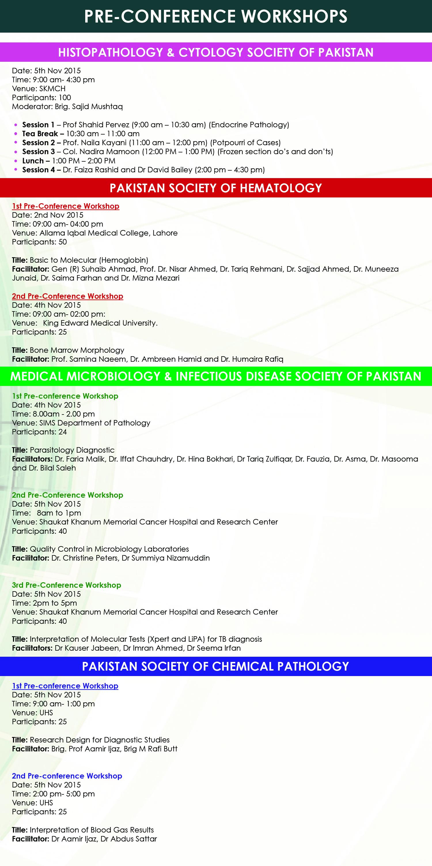5 Pre-Conference Workshop