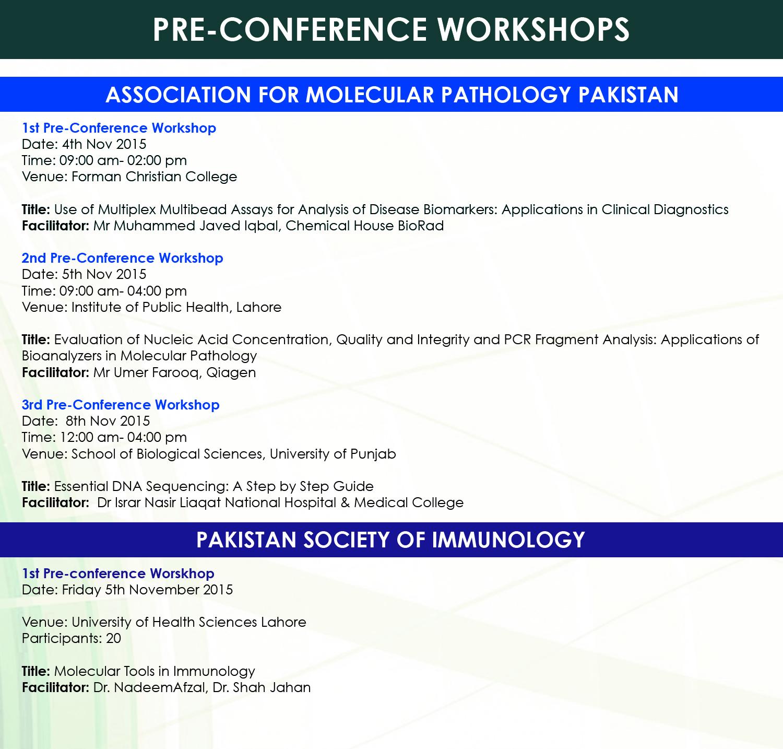 6 Pre-Conference Workshop